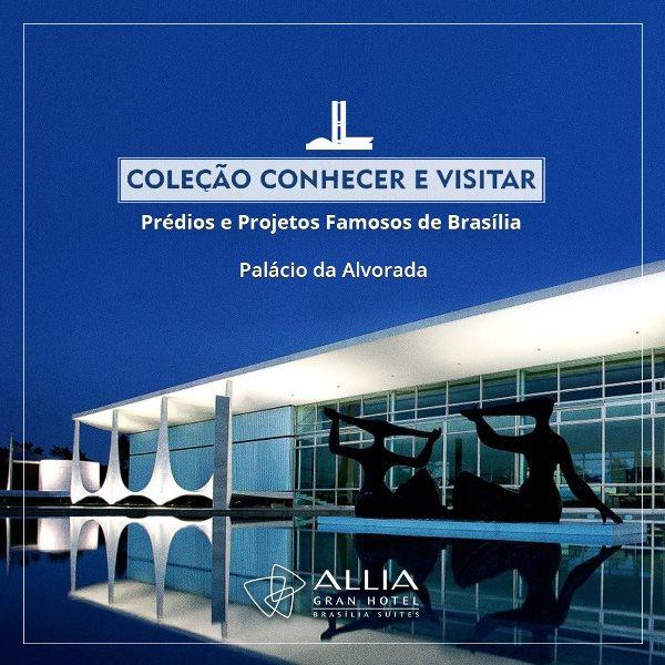 Um dos prédios mais famosos de Brasília, o Palácio da Alvorada foi a pedra fundamental na construção de Brasília