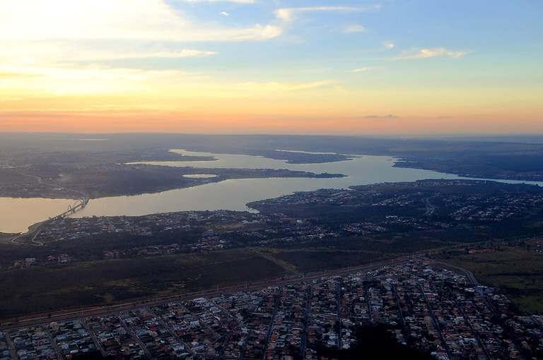 Lago Paranoá imagem aérea