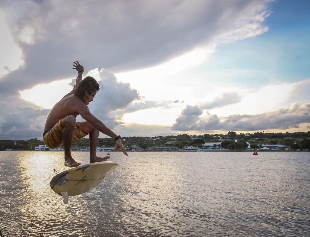 Esportes radicais no Lago Paranoá