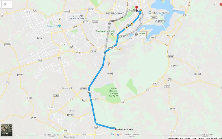 4.Cachoeira da Saia Velha – 37,8 km do Allia Gran Hotel Brasília