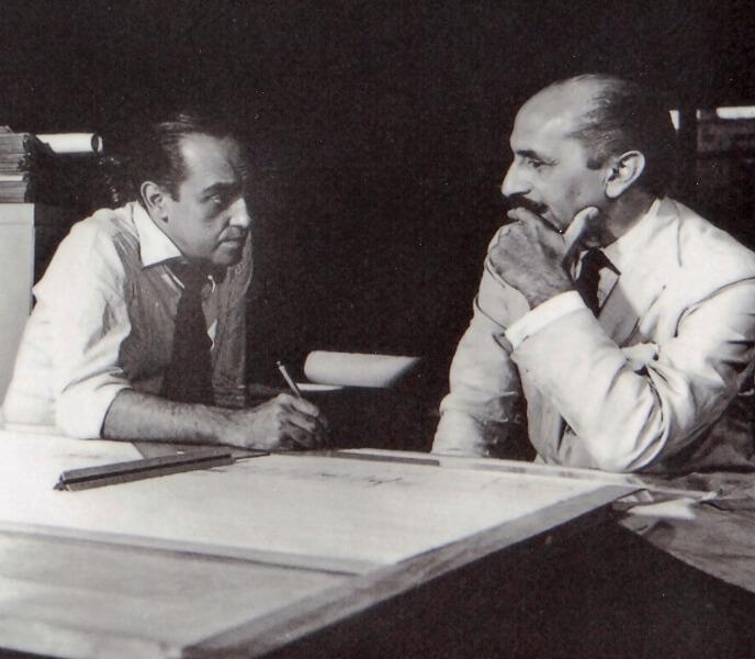 Oscar Niemeyer e Lúcio Costa.