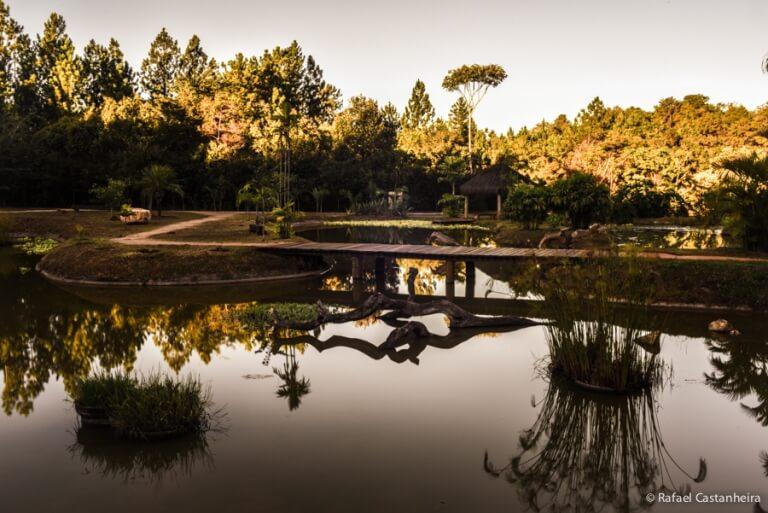 Local de lazer a piquenique no Jardim Botânico de Brasília