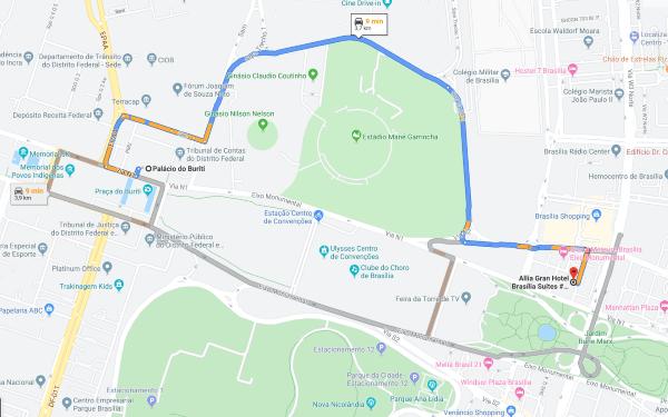 Allia Gran Hotel Brasília fica a menos de 10 minutos do Palácio Buriti